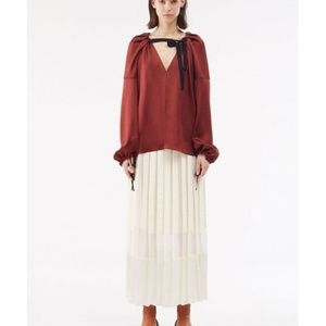 NWT 3.1 Phillip Lim Women's Red Long Sleeve Top